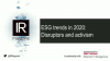 IR Magazine Webinar – ESG trends in 2020: Disruptors and activism