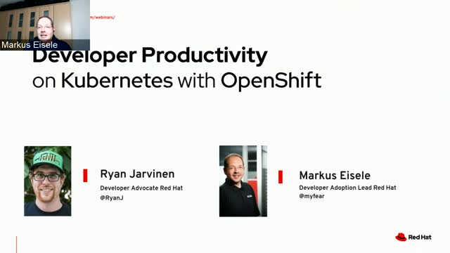 Developer Productivity on Kubernetes with OpenShift