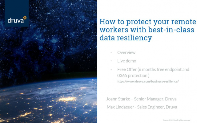 Best Practices - How to protect your remote workers with data resiliency?