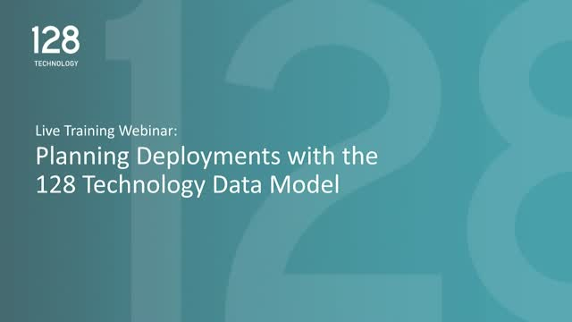 Planning Deployments with the 128 Technology Data Model