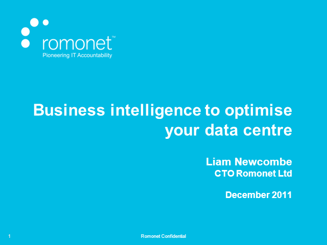 5 Ways to Use Business Intelligence to Optimise Your Data Centre