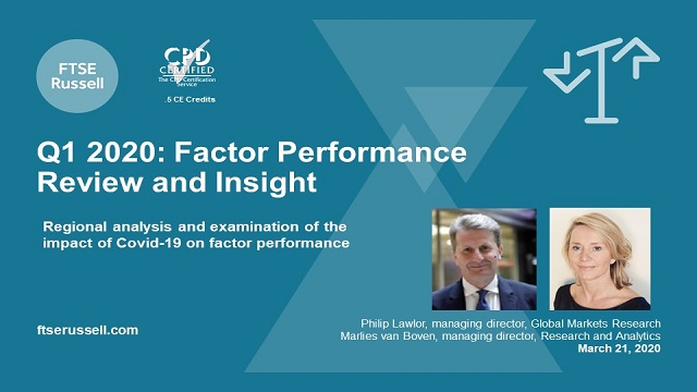 Q1, 2020 Factor Performance Review and Insight