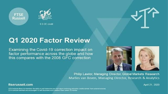 Q1, 2020 Factor Performance Review and Insight. For investors in the Americas