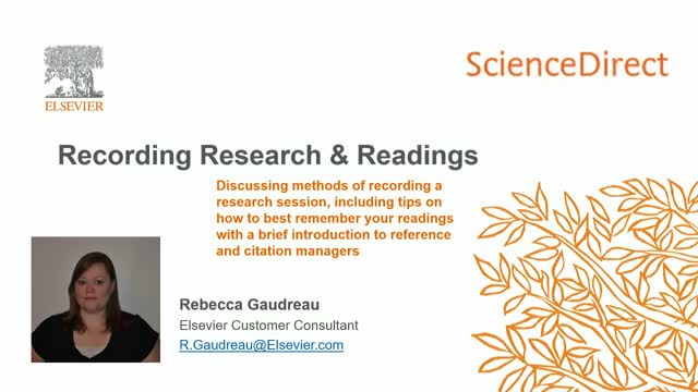 ScienceDirect - Recording Research & Readings