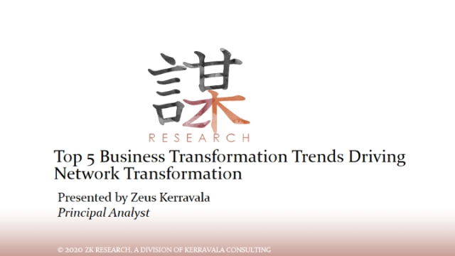 Top 5 Business Transformation Trends Driving Network Transformation