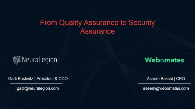 From Quality Assurance to Security Assurance