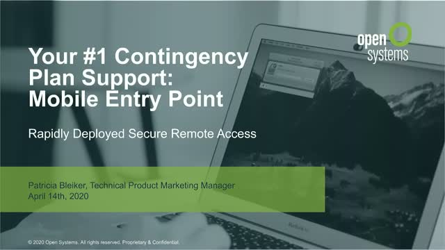 Your #1 Contingency Plan Support: Mobile Entry Point
