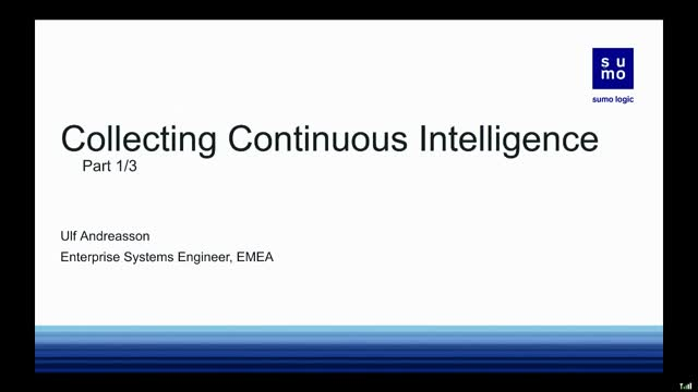 Collecting Continuous Intelligence Part 1