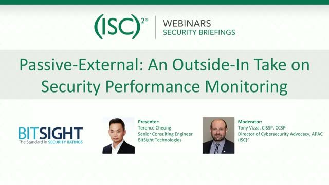 Passive-External: An Outside-In Take on Security Performance Monitoring