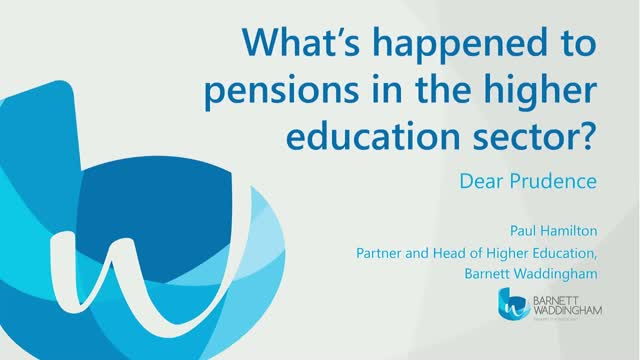 What's happened to pensions in the higher education sector?