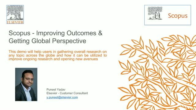 Scopus - Improving Outcomes & Getting Global Perspective