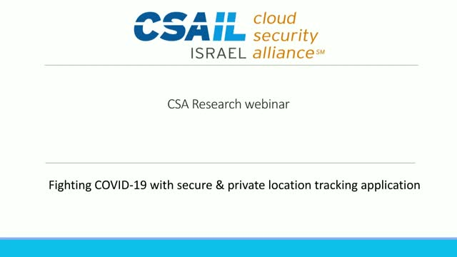 Fighting COVID-19 with secure & private location tracking application