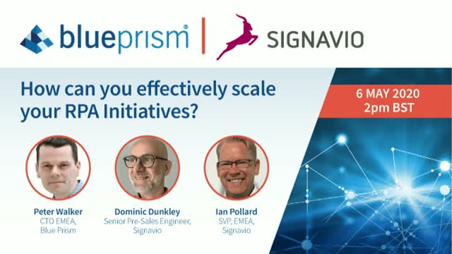 BP & Signavio: How can you effectively scale your RPA Initiatives?