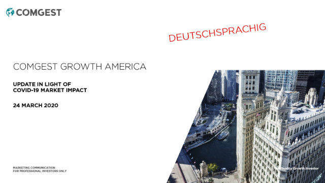 Comgest Growth America - Update in light of Covid-19; DEUTSCHSPRACHIG