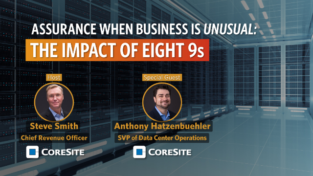 S1:E2 Assurance when Business is Unusual: The Impact of Eight 9s