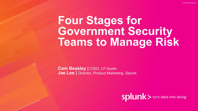 Four Stages for Government Security Teams to Manage Risk