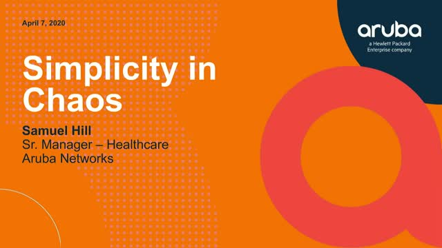 Simplicity in Chaos: How Healthcare Network Operations Meet New Challenges