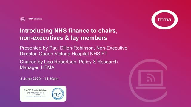Introducing NHS finance to chairs, non-executives & lay members