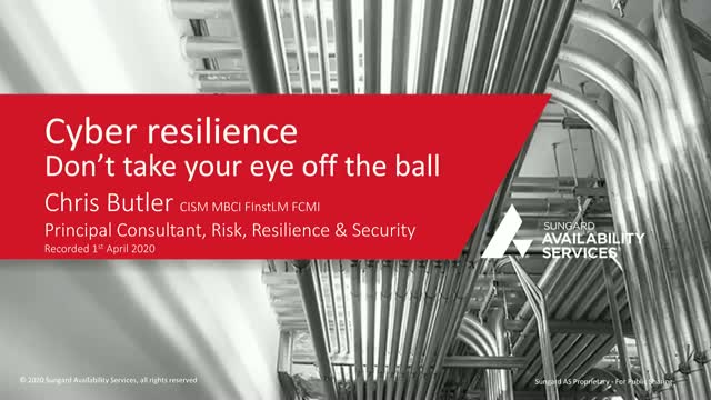 Cyber Resilience: don't take your eye off the ball