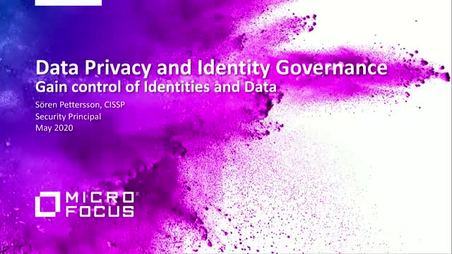 Get control of your identity, roles and data. Part 3: Identity Governance