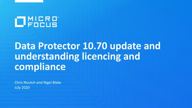 What´s new in Data Protector: Introducing Data Protector 2020.05