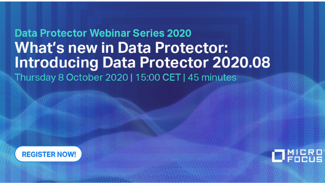 What´s new in Data Protector: Introducing Data Protector 2020.08