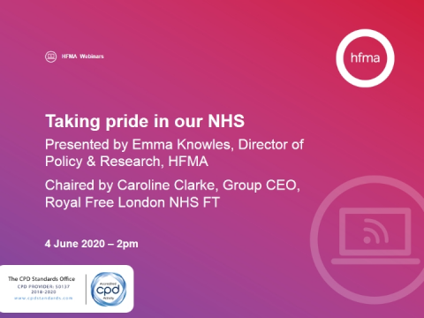 Taking pride in our NHS