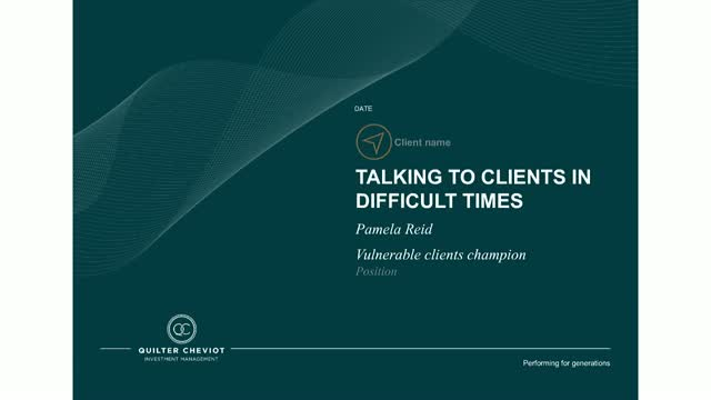 Talking to clients in difficult times