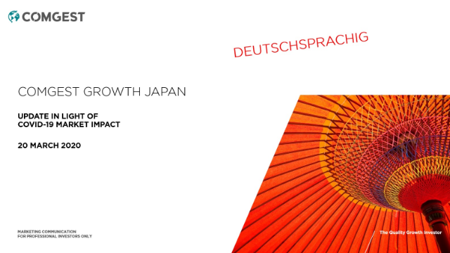 Comgest - Japan Equities - Update in light of Covid-19; DEUTSCHSPRACHIG