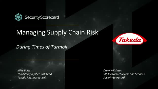 Managing Supply Chain Risk During Times of Turmoil