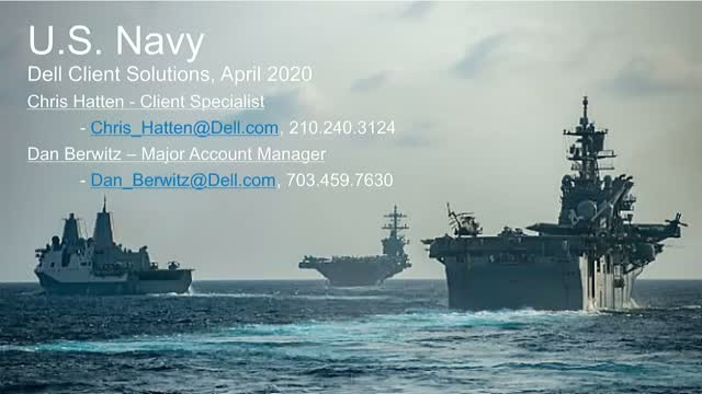 Dell NAVSEA Client Tech Overview