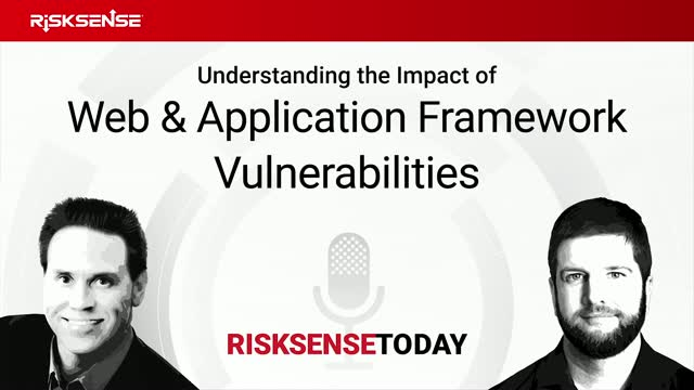 RiskSense Today: Understanding the Impact of Web and App Framework Vulnerability