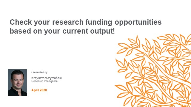 Check your research funding opportunities based on your current output!