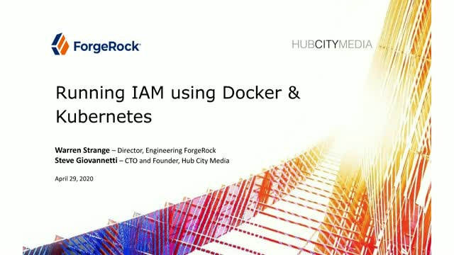 Running Identity and Access Management (IAM) Using Docker and Kubernetes