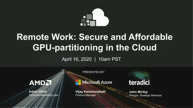 Remote Work: Secure and Affordable GPU-partitioning in the Cloud