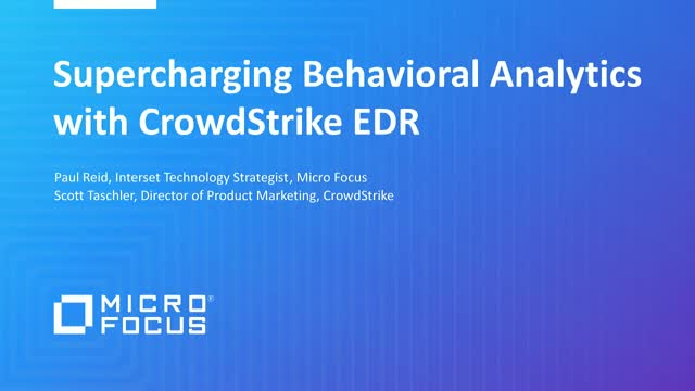Supercharging Behavioral Analytics with CrowdStrike EDR