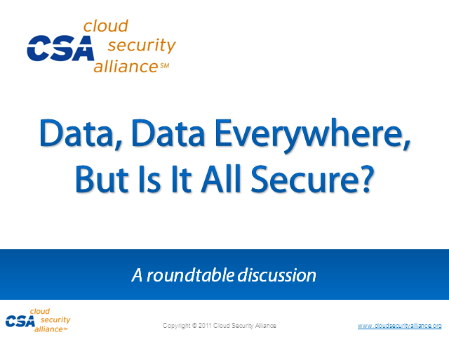 Data, Data Everywhere, but Is It All Secure?