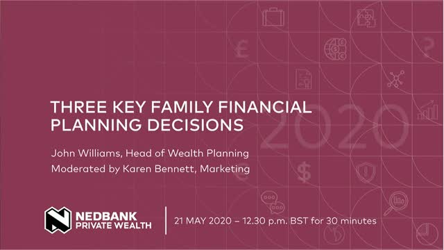 Three key family financial planning decisions