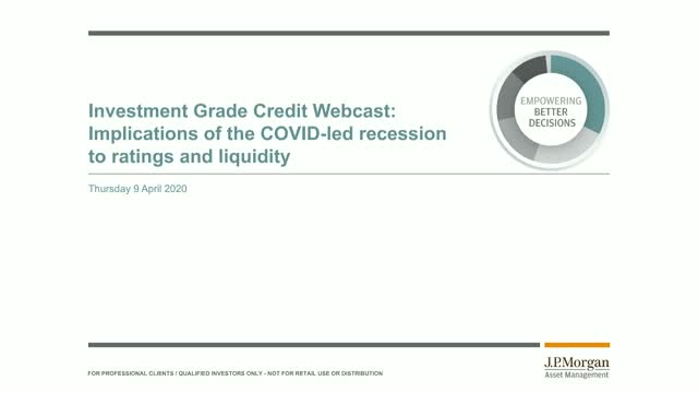 Investment grade credit market update:  Implications of the COVID-led recession