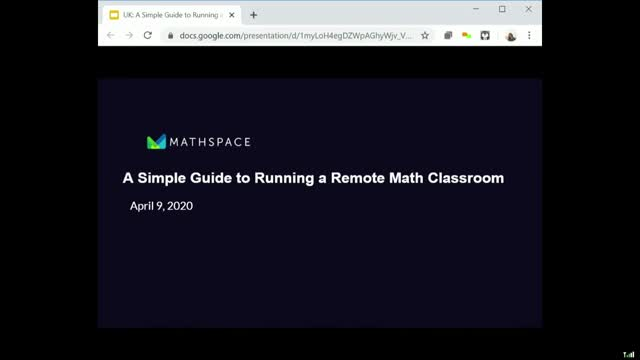 A simple guide to running a remote maths classroom