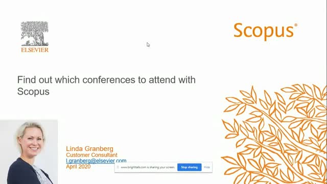 Find out which conferences to attend with Scopus