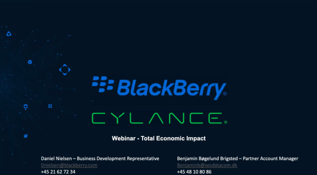 BlackBerry Cylance | Total Economic Impact Study