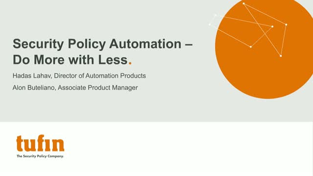 Webinar: Security Policy Automation – Do More with Less