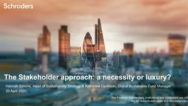 The Stakeholder approach: a necessity or luxury?