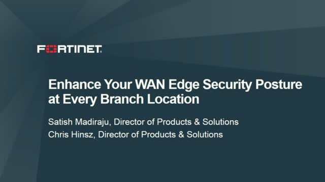 Enhance Your WAN Edge Security Posture at Every Branch Location