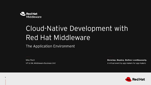 Cloud Native Development with Red Hat Middleware