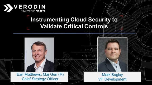 Instrumenting Cloud Security to Validate Critical Controls
