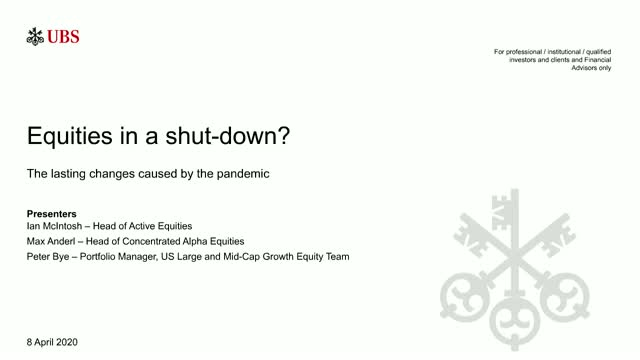 UBS Asset Management: Equities in a shut-down?