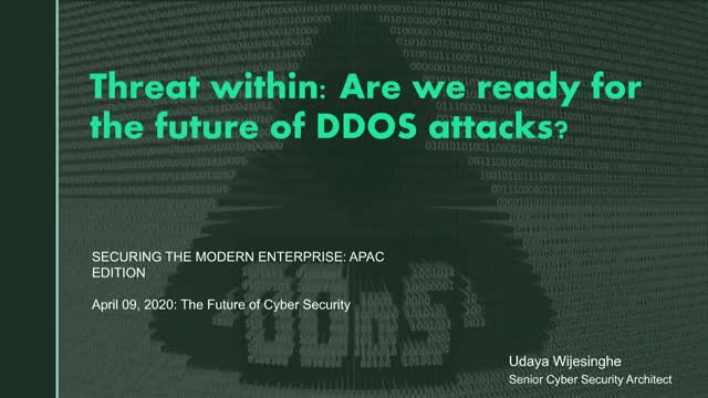 The threat within: Are we ready for the future of DDOS attacks?