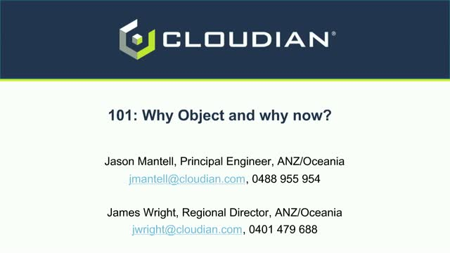101: Why Object and Why Now